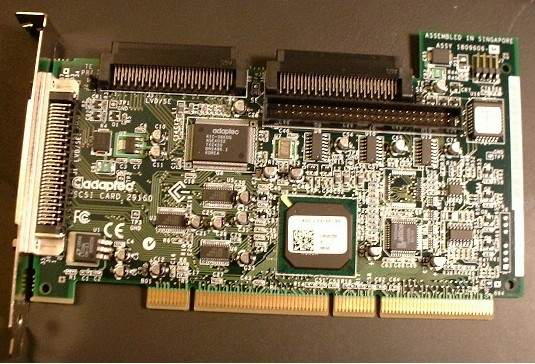 ADAPTEC APD-29160 MAC 64 BIT PCI SCSI ADAPTER 1870600