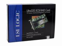 LSI MegaRAID 320-2E PCI Express Ultra320 RAID LSI00008 RETAIL BOX